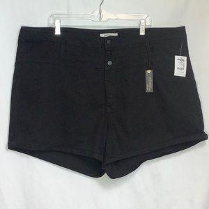 refuge+  Black Hi Waist Stretchy Shorts 26